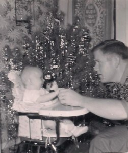 1st Christmas with Daddy-5 months old-1956